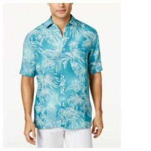 SOLD 🚫 TASSO ELBA Tropical Button Down Shirt